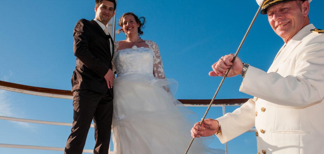 Hochzeit auf hoher See